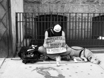 Title: Homeless With Dog